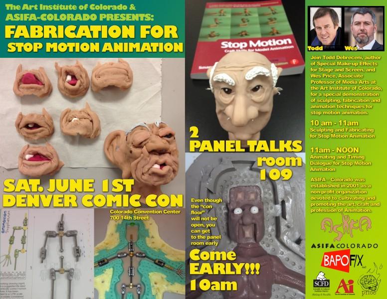 ASIFA Denver Comic Con Panel