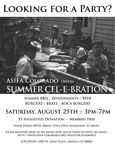 Summer Cel-e-bration - August 25th, 2012