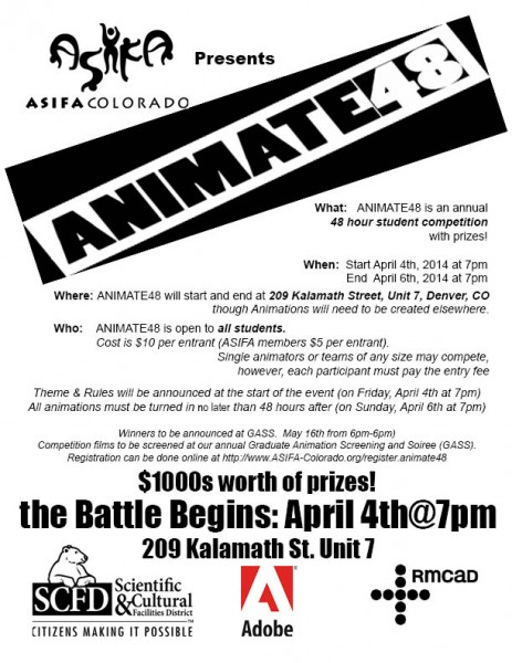 Animate48 Flyer